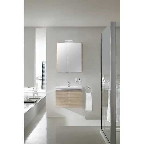 Ensemble salle de bain EOLA meleze marron clair largeur 700 mm