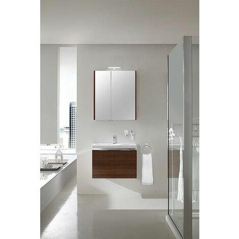 Ensemble salle de bain EOLA meleze marron largeur 700 mm