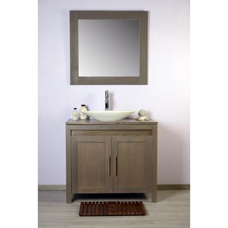 Ensemble salle de bain teck 90 grey