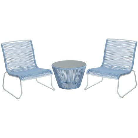 Ensemble salon de jardin design contemporain 2 places : 2 fauteuils ...