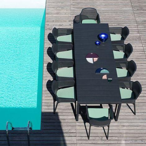 Ensemble salon de jardin Net Rio 100x160/220 par NARDI - Anthracite -  Extérieur