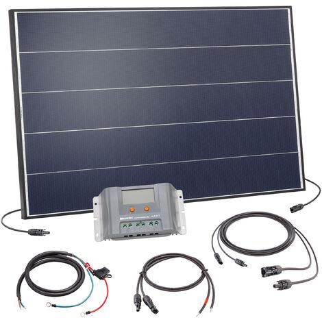Ensemble solaire Kit 125W Système solaire 12 volts Système d'îlot de camping, esotec 120054