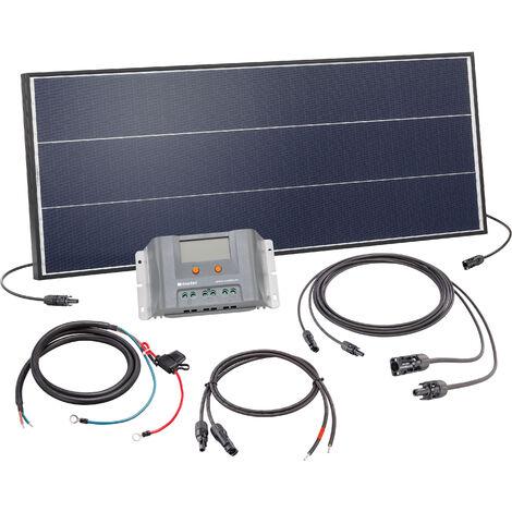 Ensemble solaire Kit 75W Système solaire 12 volts Système d'îlot de camping, esotec 120050