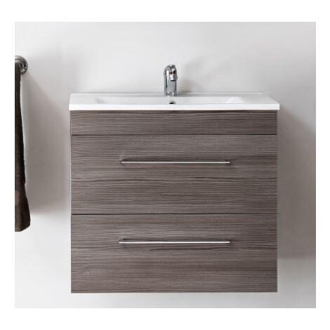 Ensemble sous-vasque + vasque - Bois - 60 cm - Cosmo - Livraison gratuite