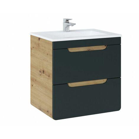 Ensemble sous-vasque + vasque - Noir - 60 cm - Aruba Cosmos - Livraison gratuite