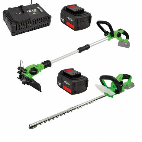 Ensemble special coupe EASY FULL : coupe bordure / taille haie avec 2 batteries 4A et chargeur 4A