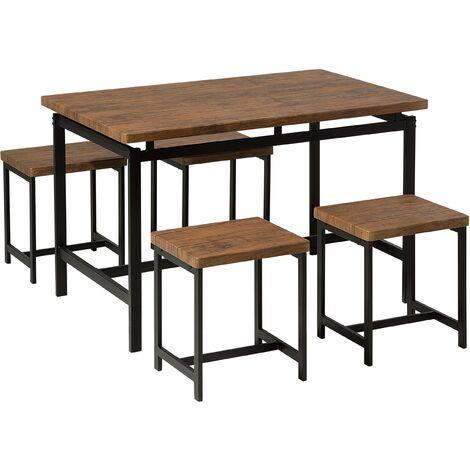 Ensemble table de salle à manger et 4 tabourets ARLINGTON