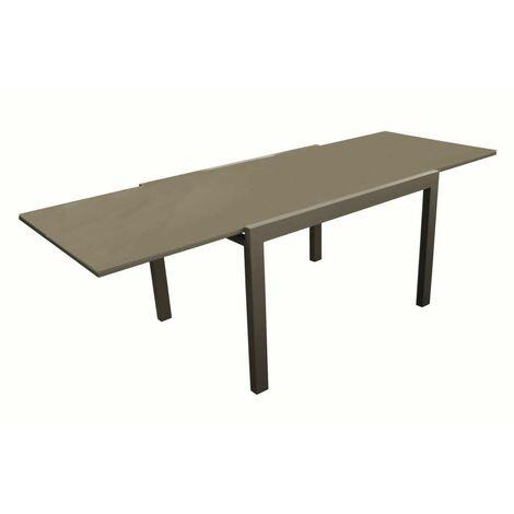Ensemble table ELISE 140/240 café + 6 chaises pliantes THEMA café