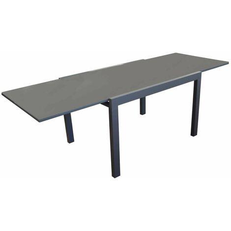 Ensemble table ELISE 140/240 gris + 6 chaises pliantes THEMA gris