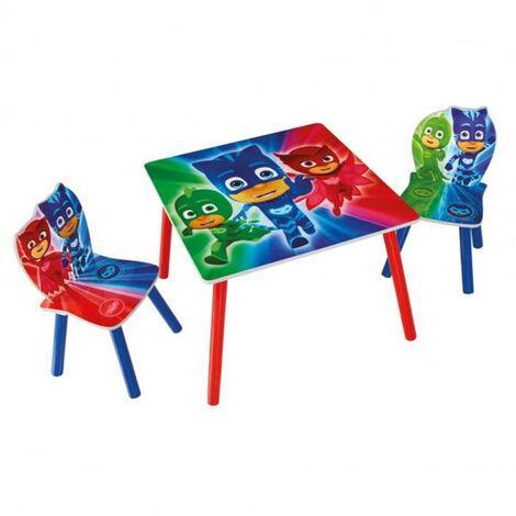 Ensemble table et 2 chaises Pyjamasques
