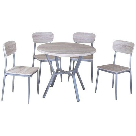 Ensemble Table Et 4 Chaises Collection Roubaix Set De Cuisine