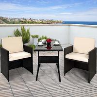 Ensemble Table Et Chaises En Polyrotin 7 Pieces Set Patio Coussins 7cm Exterieur