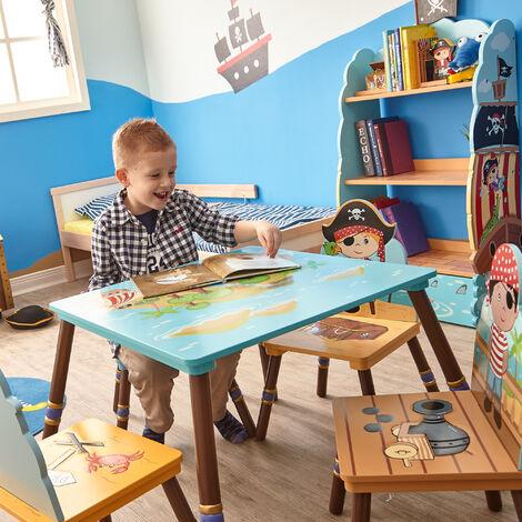 Ensemble table et chaises enfant en bois Pirate Island TD-11593S-B