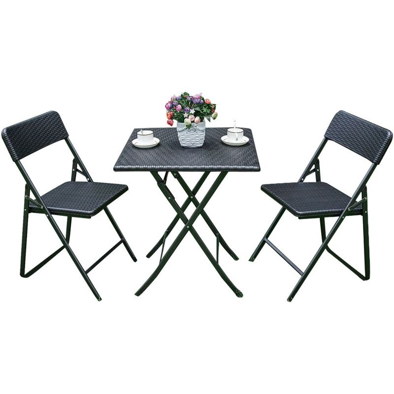 Pliant Jardin Ensemble Et Bois Effet Table Chaises Camping 9D2IWYEH