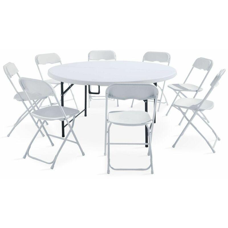ensemble table pliante 8 personnes et 8