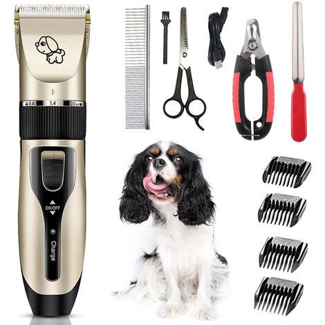 Ensemble tondeuse et rasoir electrique pour animaux de compagnie C6, chargement USB, batterie integree, personnalisation sans logo