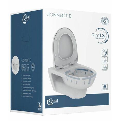 Ensemble WC Connect E WC sans bride avec couvercle assorti