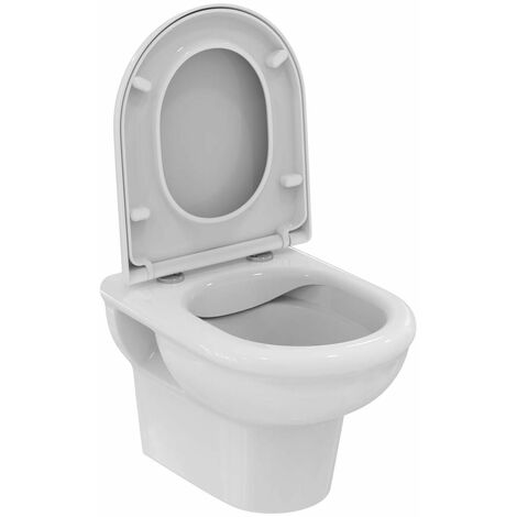 Ensemble WC Exacto avec cuvette WC à fond creux