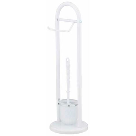 Ensemble wc sur pied exclusif siena blanc wenko 17092100 - Porte papier wc sur pied ...