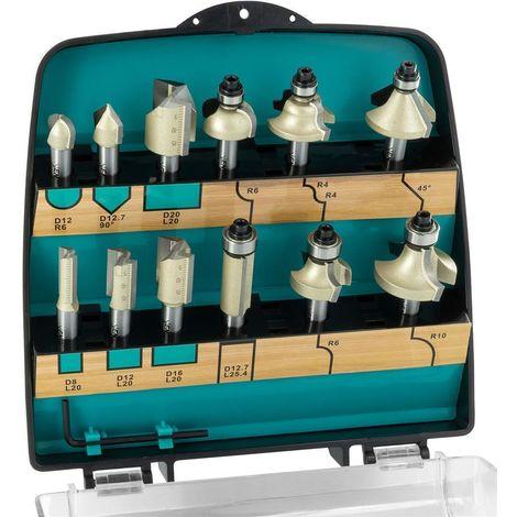 ENT 09012PLUS DURACUT PLUS 12-tlg. HW Fräser-Set in Kunststoffkassette- Schaft Ø 8 mm