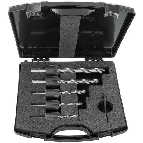 ENT Duradrill 5-tlg. HSS-G Bohrer-Versenker-Set 4 5 6 8 10 mm im Kunststoffkoffer