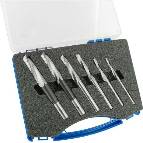 ENT Langlochbohrer Set 6-teilig WS, Durchmesser (D) 6-8-10-12-14-16 mm, rechts, gewundene Ausführung