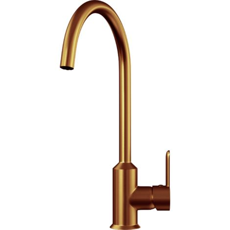 Entice Kitchen Sink Mixer with Swivel Spout & Single Lever - Brushed Copper Finish