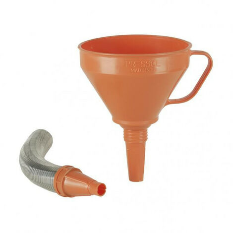 Entonnoir plastique orange double emploi