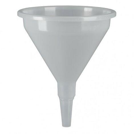 Entonnoir plastique translucide bec droit