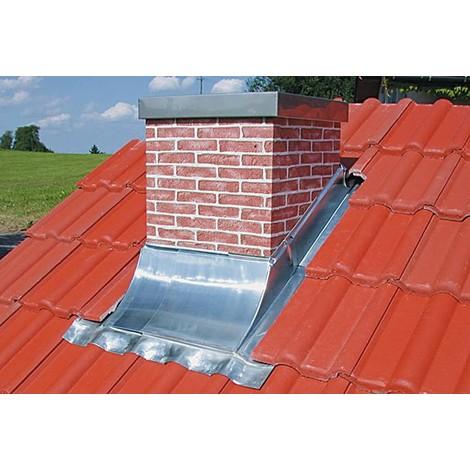 entourage de cheminée galvanisé dim:3:80-140cm largeur d'utilisation