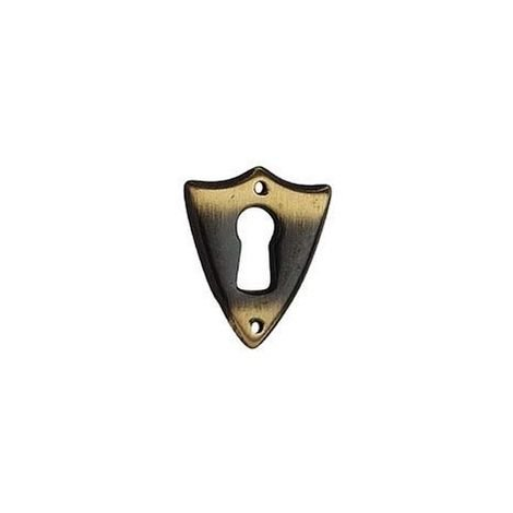 """main image of """"Entrée coeur zamac - Hauteur : 38 mm - Décor : Bronze - Largeur : 32 mm - DUBOIS - Vendu à l'unité"""""""