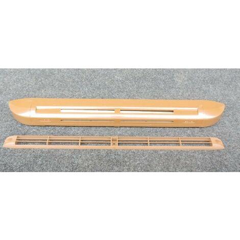 Entrée d'air hygro marron chêne acoustique 30db 6-45m³/h (capuchon de façade) pour fenetre ALTERNATIVE ELEC AE63341