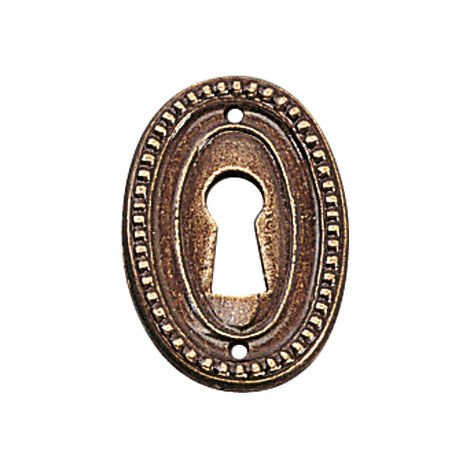 """main image of """"Entrée louis xvi laiton - Hauteur : 37 mm - Sens : Porte - Décor : Patiné - Largeur : 26 mm - FOSUN - Largeur : 26 mm"""""""