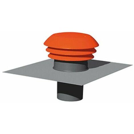 Entrée/Sortie d'air toiture - Diamètre 125mm - Rouge