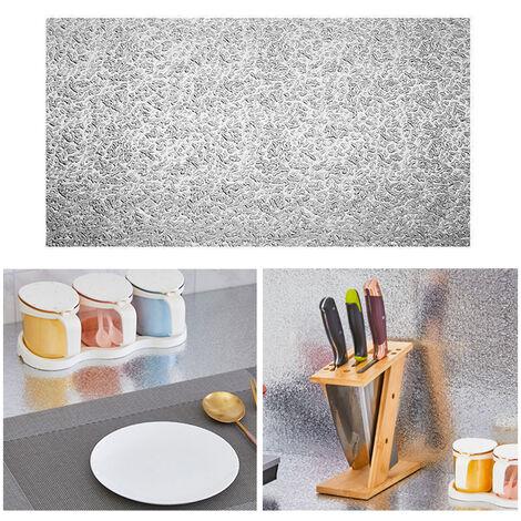 Entrepanos de cocina Wall Stickers Pegatinas cocina auto-adhesivo de papel de aluminio de cocina Pegatinas prueba de aceite a prueba de agua