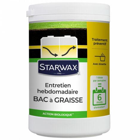 Entretien hebdomadaire pour bac à graisses pour 6 mois Starwax