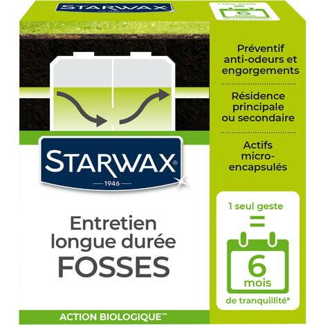Entretien longue durée pour fosses septiques 500g STARWAX