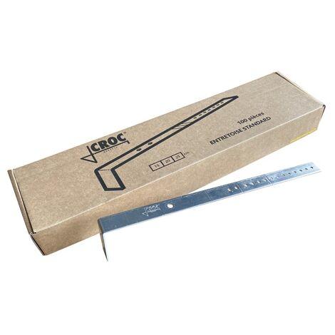 """main image of """"Entretoise ALU coudée sécable pour mur de 15 - 20 - 25 cm système CROC (paquet de 100 pièces) - Coffrage de dalle"""""""