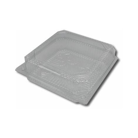 Envase Plástico Bisagra Cuadrado EC1919-45 PET 190x190x45mm 200 Unidades