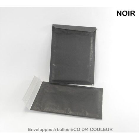 Enveloppes à bulles ECO D/4 NOIRES format 180x260 mm