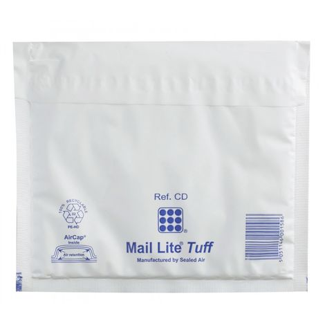 Enveloppes à Bulles PLASTIFIEES Type CD - Format 180x160 mm Lot de 1600