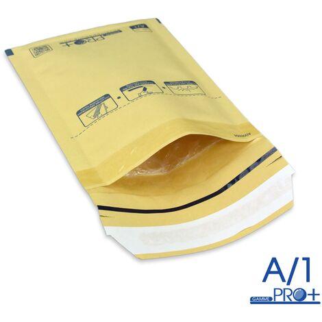 Enveloppes à bulles PRO MARRON A/1 format 90x165 mm