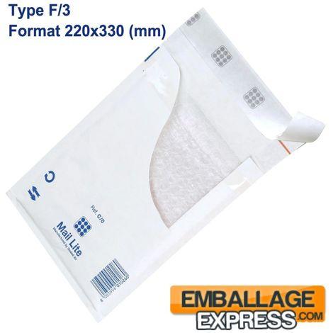 Enveloppes à Bulles Type F/3 - Format 220x330 mm
