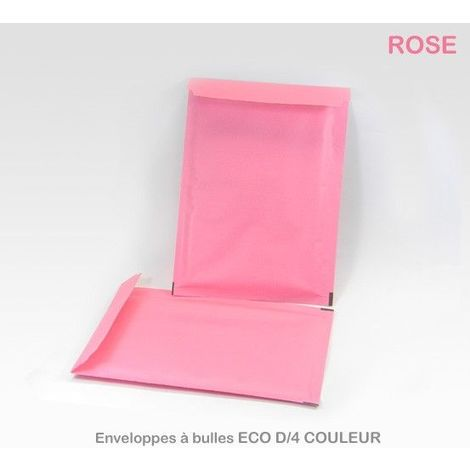 Lot de 10 Enveloppes à bulles ECO D/4 ROSES format 180x260 mm