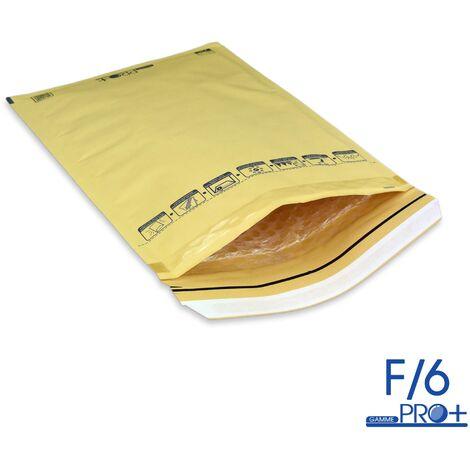 Lot de 10 Enveloppes à bulles PRO MARRON F/6 format 210x335 mm