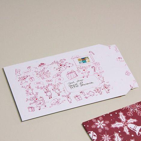 enveloppes carton B-Box 4 imprimée NOËL format 250x353 mm
