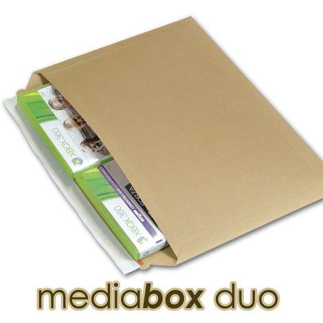 enveloppes carton MEDIA-BOX DUO pour 2 DVD / BLURAY