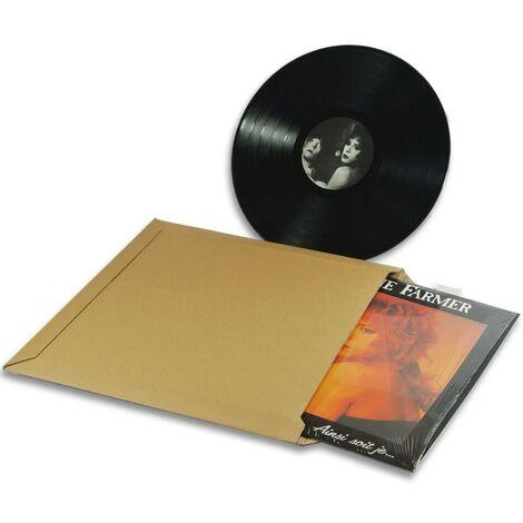 enveloppes carton vinyle 33 tours format 350x350 mm