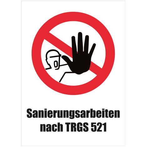 """enviro Warntafel Sanierungsarbeiten nach TRGS 521"""""""