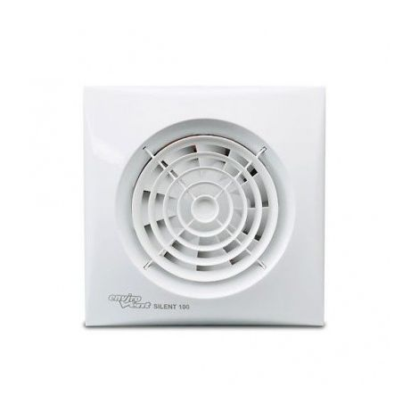 Envirovent SIL100HT Silent 100 Whisper Quiet Toilet & Bathroom Fan with Humidistat & Timer